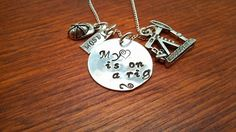 Handstamped Oil Rig Oilfield necklace My by ByalittlebitofFaith, $30.00