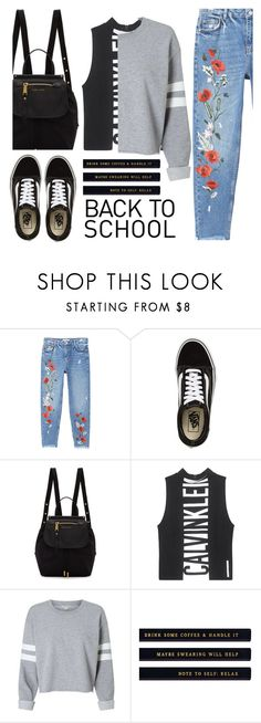 """Back To School"" by janie2308 ❤ liked on Polyvore featuring MANGO, Vans, Marc Jacobs and Calvin Klein Jeans"