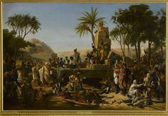 Jean Charles Tardieu | Halte de l'armée française à Syène en Haute Egypte, le 2 février 1799 | Images d'Art