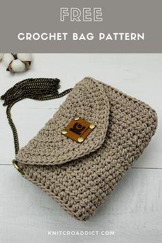 Free Crochet Purse Patterns, Easy Beginner Crochet Patterns, Free Crochet Bag, Crochet Bag Tutorials, Modern Crochet Patterns, Bag Pattern Free, Crochet Stitches Patterns, Crochet Videos, Pattern Ideas