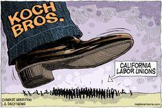 Koch Bros vs. California Unions