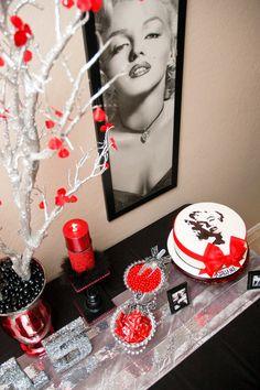 Marilyn Monroe themed birthday party