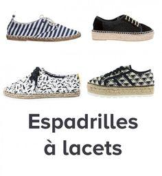 Les espadrilles à lacets, tendance chaussures printemps été 2016