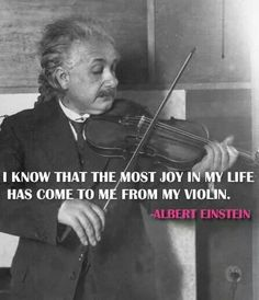 "Albert Einstein quote: ""I know that the most joy in my life comes has come to me from my violin"" Violin Quotes, Music Quotes, Music Is Life, My Music, Reggae Music, Violin Sheet Music, Violin Art, Violin Lessons, Music Education"