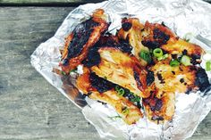 Foil Pack Sriracha Honey Wings   - Delish.com