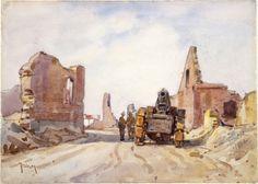 Nugent Welch (1881-1970) - Howitzer, Haucourt