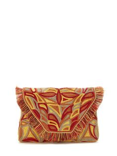 Leather Embroidered Oversized Wallet by Antik Batik