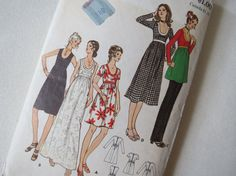 1970s Scoop Neck Blouse or Dress  Vintage Pattern by ErikawithaK, $7.00