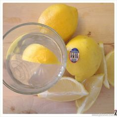 a wedge of lemon in water is tasty and a good way to alkaline our lives.