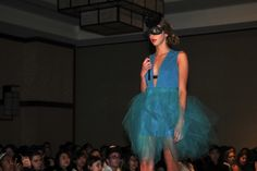 @caroline kee doing penn fashion show runway!