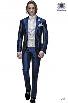 Traje de novio italiano azul royal 238 Ottavio Nuccio Gala
