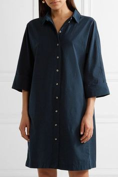 M.i.h Jeans - Roller Cotton Shirt Dress - Navy - x small