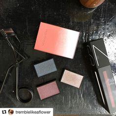 #Repost @tremblelikeaflower (@get_repost)  #fotd #makeup #beauty #instabeauty #celvoke #powermattelippigment #flatlay