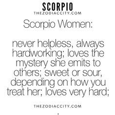 Daily updated fun facts on the zodiac signs. Scorpio Traits, Scorpio Zodiac Facts, Scorpio Love, Scorpio Girl, Scorpio Quotes, Scorpio Horoscope, Scorpio Female, Scorpio Star, Astrology Zodiac