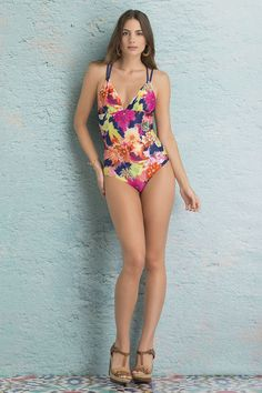 Macrame back one piece Ref. 16E09 Find it at www.sahaswimwear.com
