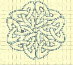 """Stickdatei """"Keltischer großer Knoten"""" 5/6/7 inch von facileetbeaugusta auf Etsy"""