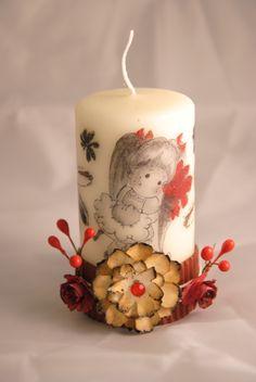 magnolia stamp candle