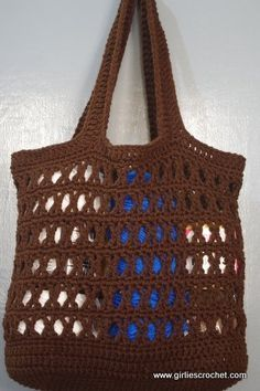 #Free pattern; crochet tote