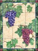 Grapes-Mix - Tile Mural Tile Murals, Wall Tiles, Decorative Tile Backsplash, Tumbled Marble Tile, Fruit Picture, Fruits Images, Tile Projects, Kitchen Backsplash, Beautiful Artwork