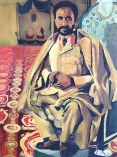 Acrylic Painting Haile Selassie Original by TroyRobertsArtwork, $350.00