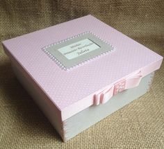 Caixa primeiras recordações bebê | Atelier Marcela Freitas - Criações Personalizadas | Elo7