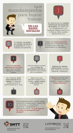 Los 10 mandamientos para buscar trabajo en las redes sociales [INFOGRAFÍA]