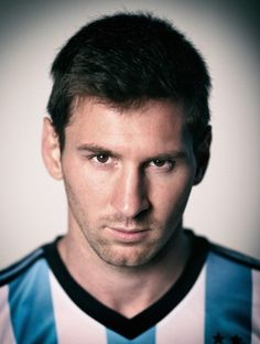 Image was processed using digital filters Lionel Messi of Argentina poses during the official FIFA World Cup 2014 portrait session on June 10 2014 in...