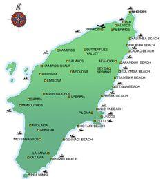 Rhodes Island Greece Map.27 Best Rhodes Beaches Images Greece Island Map Rhodes Beaches