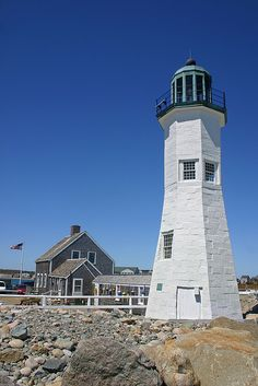 Scituate Lighthouse, Massachusetts.  Go to www.YourTravelVideos.com or just click on photo for home videos and much more on sites like this.