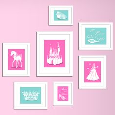 Disney Princess inspired girls canvas art!