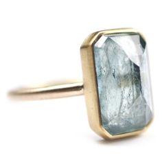 5.8ct Emerald ring by Elizabeth Street Jewelry www.elizabethstreetjewelry.com