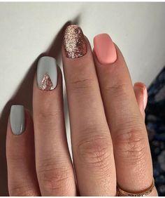 Spring metallic nails