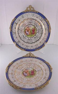 Lot 2 #syracuse china onondaga pottery opc dessert #plates angelica #kauffman blu,  View more on the LINK: http://www.zeppy.io/product/gb/2/400855923610/