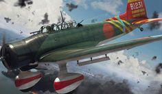 Aichi D3A1 'Val', Pearl Harbor attack, December 7, 1941. Digital art by Adam…
