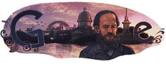 Google Doodle: Fyodor Dostoyevsky