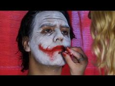 The Joker (Heath Ledger) make up tutorial - YouTube