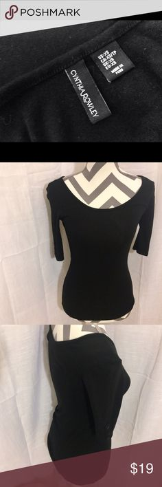 Cynthia Rowley Ballerina T Stunning black Ballerina T by Cynthia Rowley 👯 XS with a snug yet stretchy fit 🙀 one of a kind piece of casual wear that goes perfect with some jeans and flats ‼️ Please submit offers with offer button ‼️❌No Trades❌ Cynthia Rowley Tops Blouses