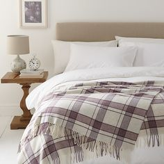 Buy John Lewis Country Check Throw, Amethyst Online at johnlewis.com