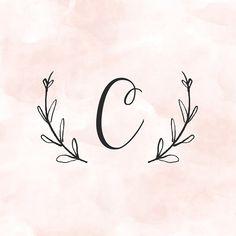 Letter C Tattoo, Monogram Tattoo, Monogram Letters, Monogram Wallpaper, Name Wallpaper, Cute Wallpaper For Phone, Mini Tattoos, Small Tattoos, Tattoo Letras