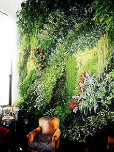 Phenomenal vertical garden application at the London Anthropologie store