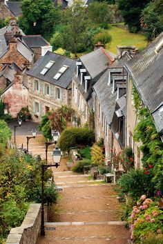 The steep streets of the village lead to one of the oldest ports of the pink granite coast in Lannion, France