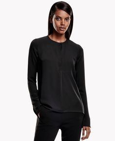 Theory Calveer Modern Georgette Top | Theory.com