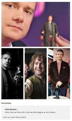 "Because the world needs more Martin Freeman.--- Don't you mean ""littler"" martins?"