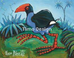 A Timo Rinnali original Art, Image, Painting, Vintage