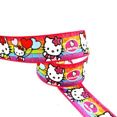 Pink Kitty 7/8 inch Grosgrain Ribbon - Hairbow Supplies, Etc.