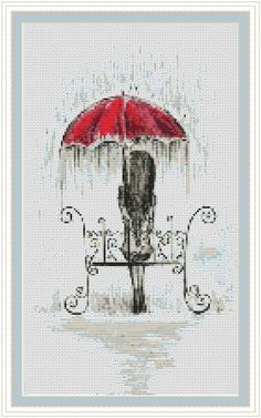 Rain cross stitch pattern, cross stitch pdf, abstract cross stitch, sweet thing p . Counted Cross Stitch Patterns, Cross Stitch Designs, Cross Stitch Embroidery, Embroidery Patterns, Hand Embroidery, Card Patterns, Crochet Patterns, Modern Cross Stitch, Embroidery Techniques