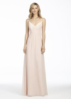 3697ad3f029 Style 5763 Hayley Paige Occasions bridesmaids dress - Blush chiffon A-line  bridesmaid gown