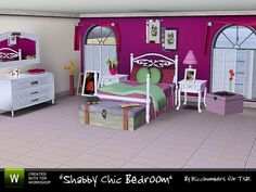 Shabby Chic Bedroom by Riccinumbers http://www.thesimsresource.com/downloads/962644