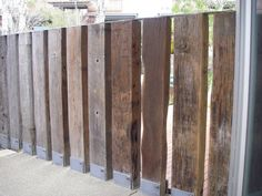Image result for railway sleeper fence