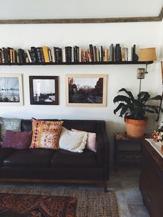 Living room shelves above couch pillows trendy ideas My Living Room, Home And Living, Living Room Furniture, Home Furniture, Living Spaces, Bookshelf Living Room, Cozy Living, Apartment Bookshelves, Rustic Furniture